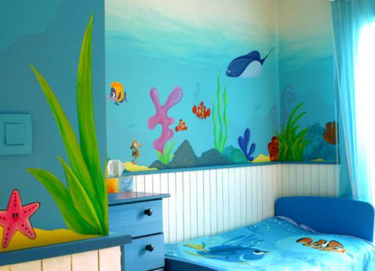 Peinture chambres de jeunes vernon ravalement picture for Peinture murale enfant